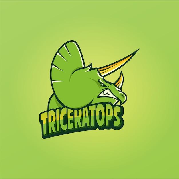 Triceratops-logo-vektor Premium Vektoren