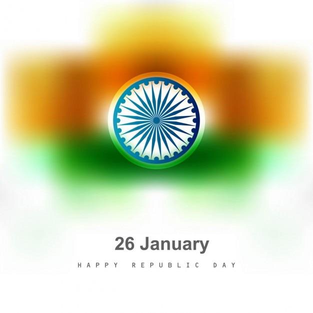 Tricolor indischen flagge unscharfen hintergrund Kostenlosen Vektoren
