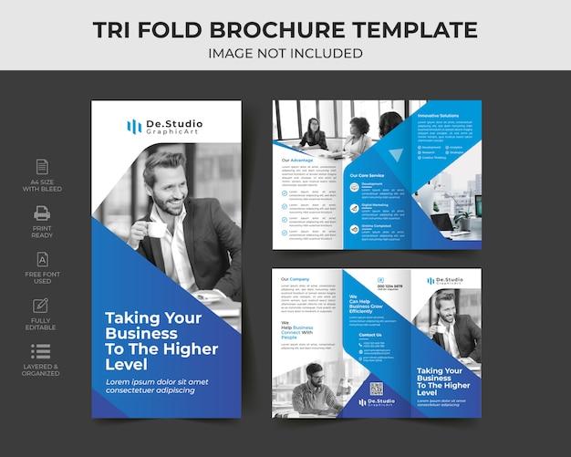 Trifold broschüren vorlage Premium Vektoren