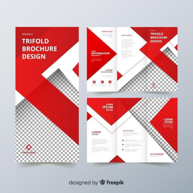 Trifold-flyer-vorlage Kostenlosen Vektoren