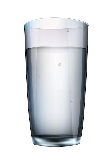 Trinke ein glas weiße milch auf weißem grund Premium Vektoren