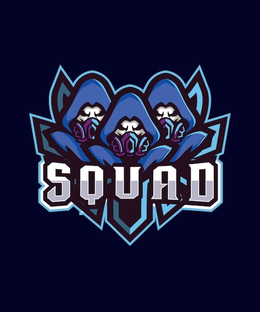 Triple squad esports-logo Premium Vektoren