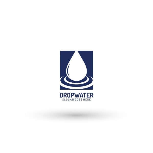 Tropfen logo-vorlage Kostenlosen Vektoren