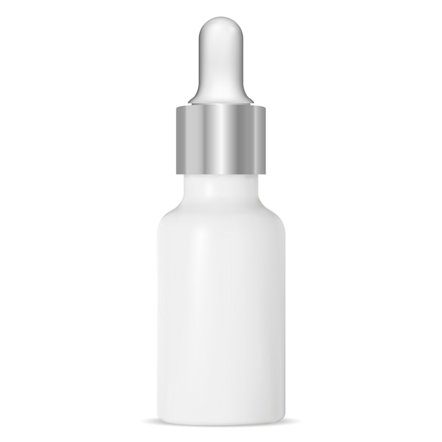 Tropfflasche, kosmetisches serumfläschchen Premium Vektoren