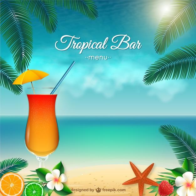 Tropical Bar-Menü | Download der kostenlosen Vektor