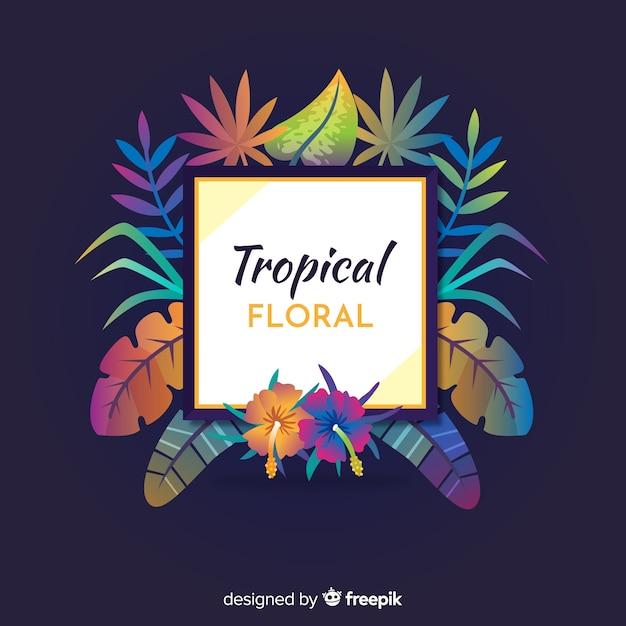 Tropische blumen Kostenlosen Vektoren