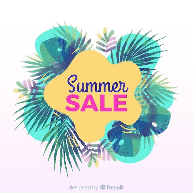 Tropische fahne des sommerschlussverkaufs Kostenlosen Vektoren