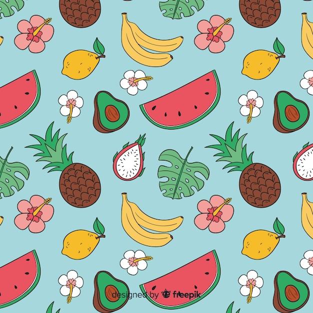 Tropische früchte Kostenlosen Vektoren