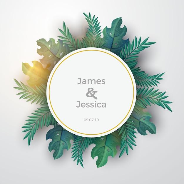 Tropische Hochzeits-moderne runde Fahnen-Schablone | Download der ...
