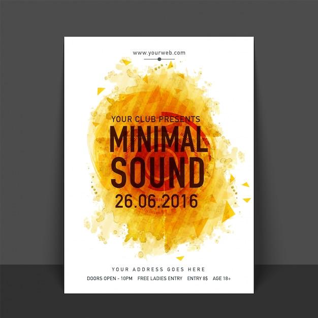 Tropische musik sommer broschüre vorlage Kostenlosen Vektoren