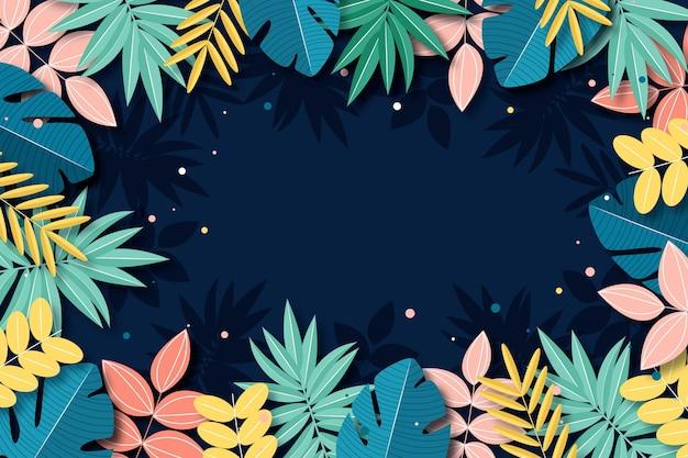 Tropischer blumenhintergrund für zoom Kostenlosen Vektoren