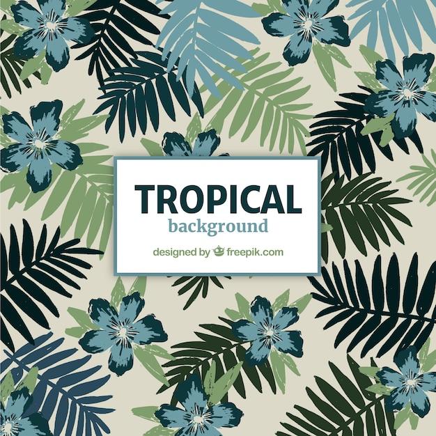 Tropischer hintergrund des aquarells mit eleganter art Kostenlosen Vektoren