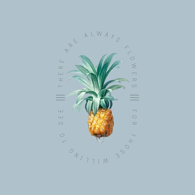 Tropisches ananas-abzeichen Kostenlosen Vektoren