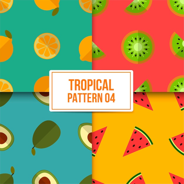 Tropisches muster bündeln Premium Vektoren