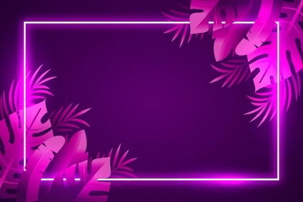 Tropisches neonviolett hinterlässt hintergrund Kostenlosen Vektoren