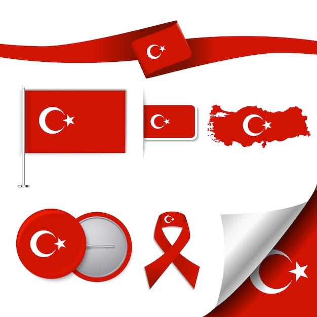 Türkei repräsentative elemente sammlung Kostenlosen Vektoren
