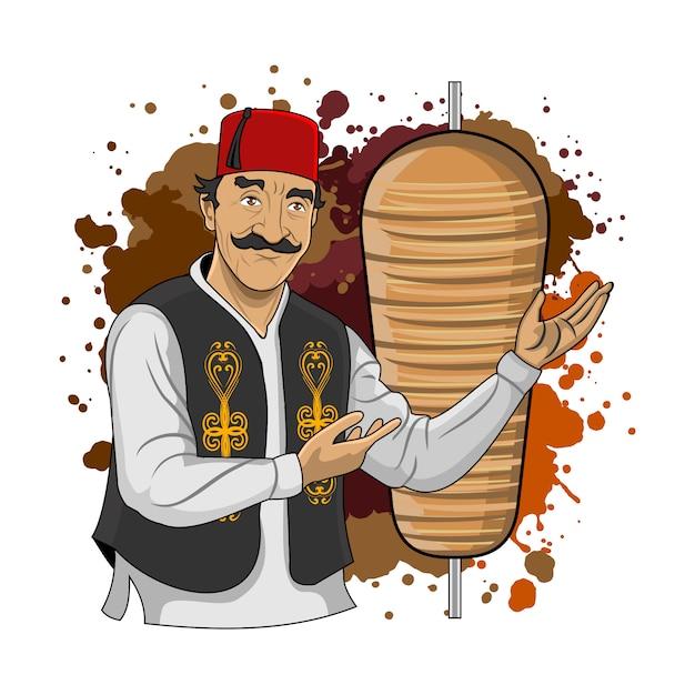 Türkische kebab larne Premium Vektoren