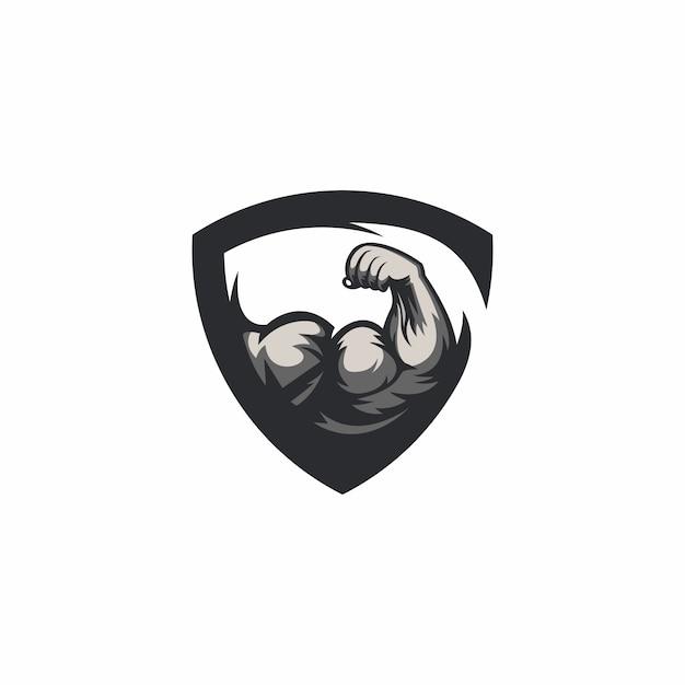 Turnhalle logo vorlage Premium Vektoren
