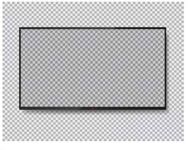 Tv-bildschirm isoliert. lcd-panel. Premium Vektoren