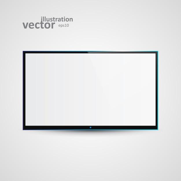 Tv flachbildschirm icd Premium Vektoren
