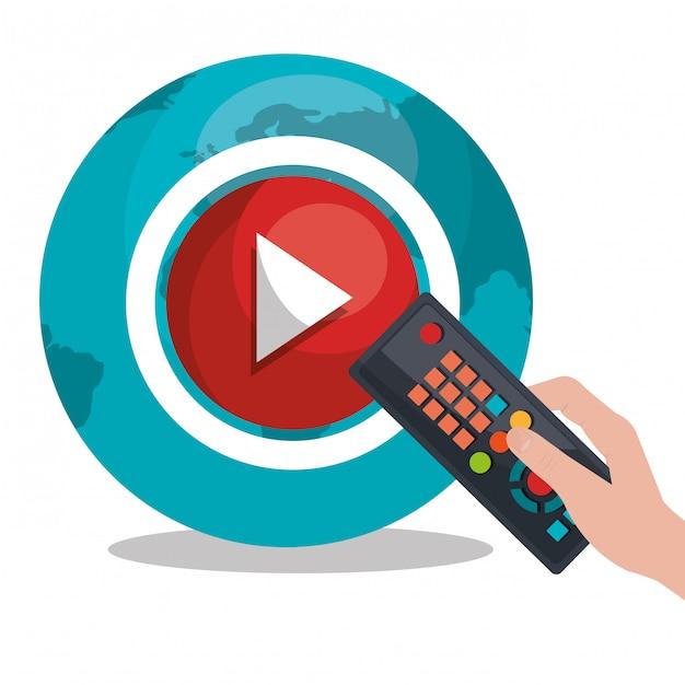 Tv-live-stream Premium Vektoren