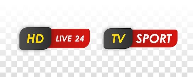 Tv-nachrichtenleiste. titelbanner für fernsehsendungen. Premium Vektoren