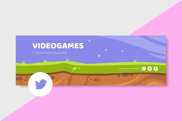 Twitter-header für videospiele Kostenlosen Vektoren