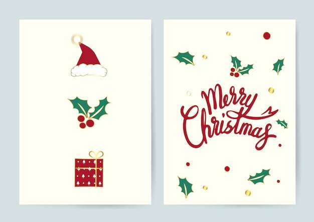Typografie-kartenvektor der frohen weihnachten Kostenlosen Vektoren