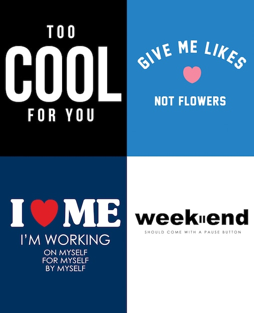 Typografie-Slogan für T-Shirt-Druck | Download der Premium Vektor