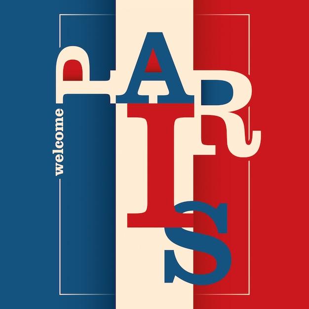 Typografischer paris-hintergrund Premium Vektoren