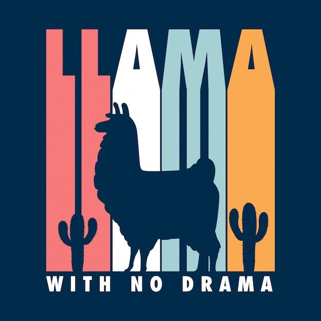 Typografisches lama-shirt Premium Vektoren