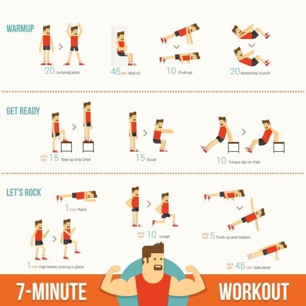 Übungen Infografik-Vorlage | Download der kostenlosen Vektor