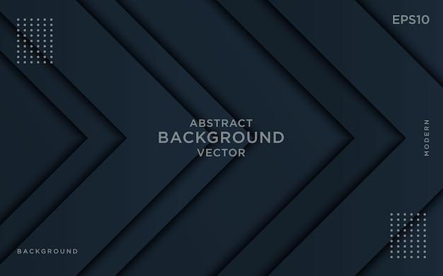 Überlappungsschichten des dunklen pfeilhintergrundes. Premium Vektoren