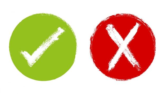 Überprüfen und überqueren zeichen lackierung Kostenlosen Vektoren