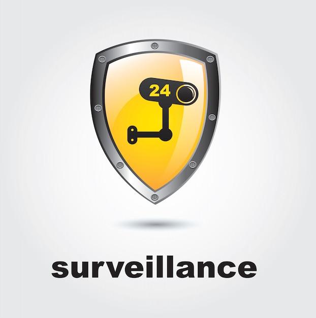 Überwachung Premium Vektoren