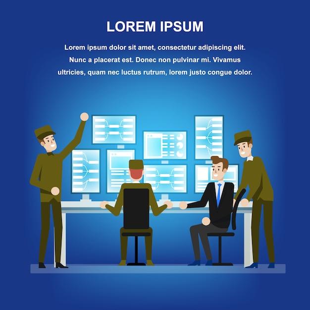 Überwachungsbehörde der regierung Premium Vektoren
