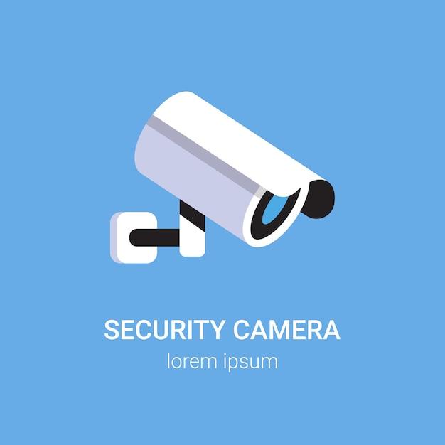 Überwachungskamera des cctv-überwachungssystems Premium Vektoren