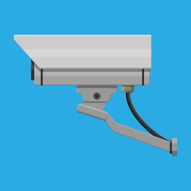 Überwachungskamera. überwachungsfernkamera. Premium Vektoren
