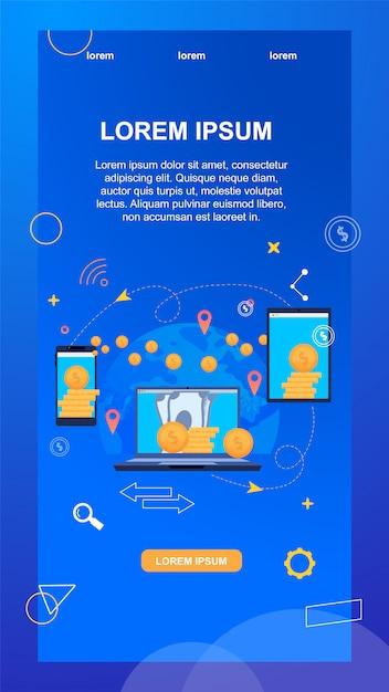 Überweisung. telefonnummer und kontonummer Premium Vektoren