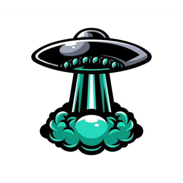 Ufo-vektor-element-logo Premium Vektoren