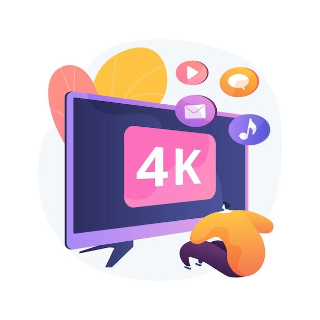 Uhd smart tv abstrakte konzeptillustration Kostenlosen Vektoren