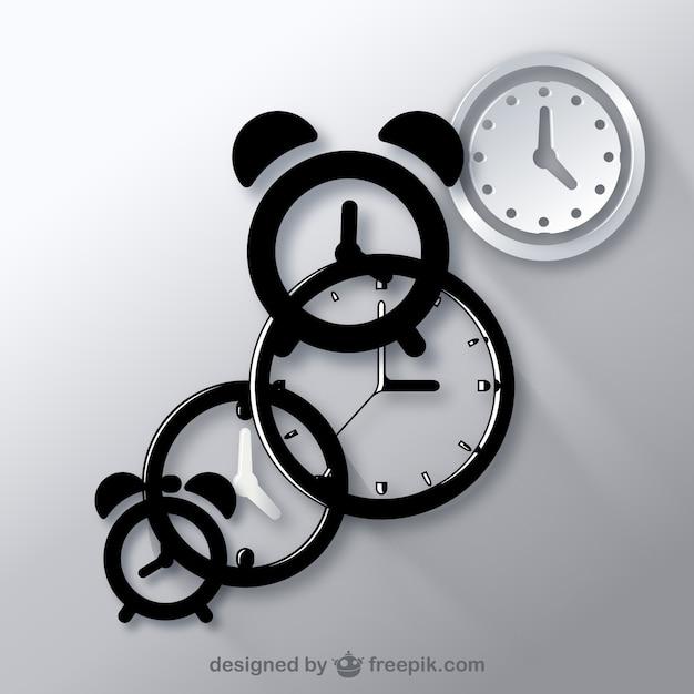 Uhren-symbol vektoren Kostenlosen Vektoren
