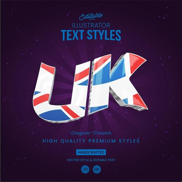 Uk text style Premium Vektoren