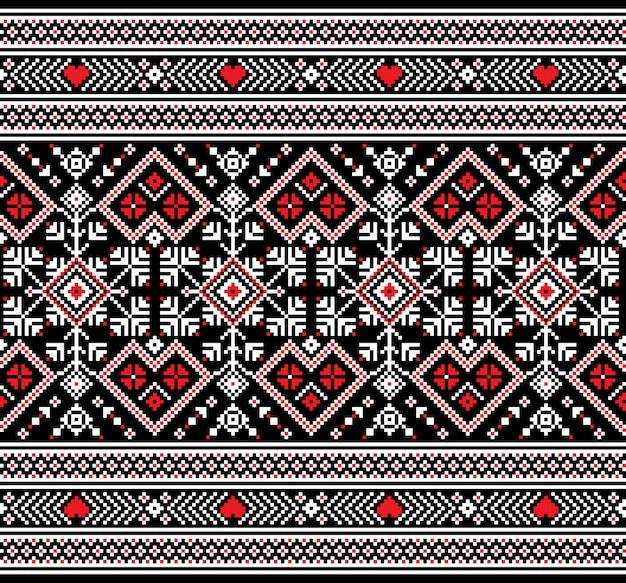 Ukrainische nahtlose mustervolksverzierung Kostenlosen Vektoren