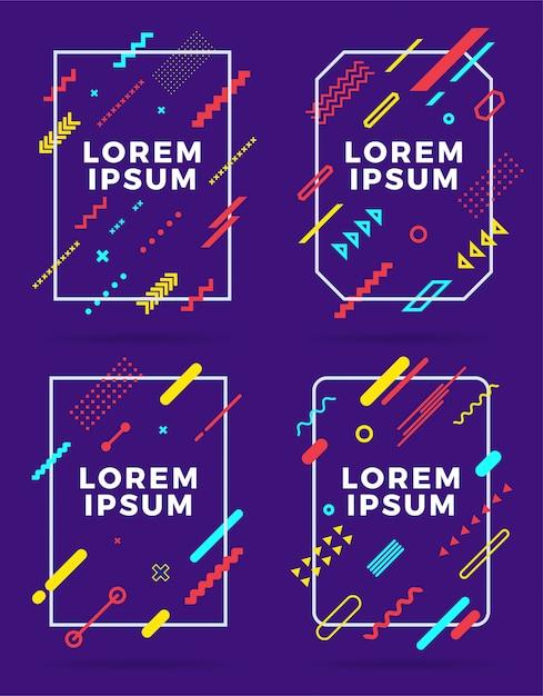 Umfasst moderne abstrakte designvorlagen. Premium Vektoren