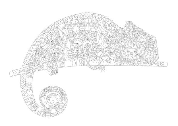 Umreißen sie gezeichnetes zoologisches abstraktes pädagogisches tier Kostenlosen Vektoren