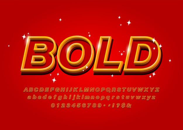 Umreißen sie mutiges alphabet auf abstraktem rotem vektorguß Premium Vektoren