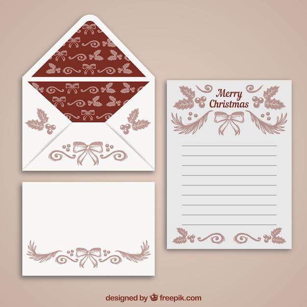 Umschläge Und Briefvorlagen Im Vintage Stil Download Der