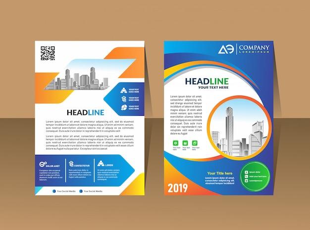Umschlagschablone a4-format broschüre für business-design Premium Vektoren