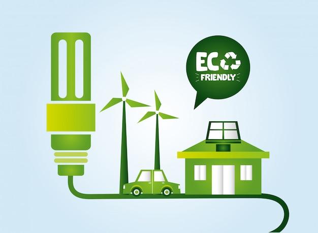 Umweltfreundliche elementkollektion Kostenlosen Vektoren